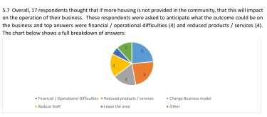 pie chart re effect on businesses of no housing provision